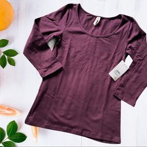 Nordstrom Frenchi Scoop Neck 3/4 Sleeve Tee NWT